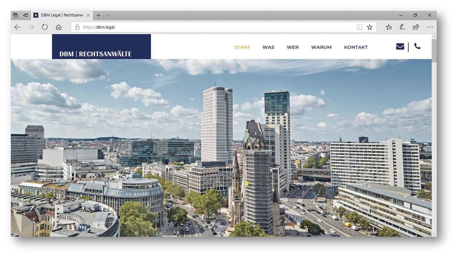 Ausblick aus der Kanzlei über Berlin einer Kanzlei für Wirtschaftsrecht