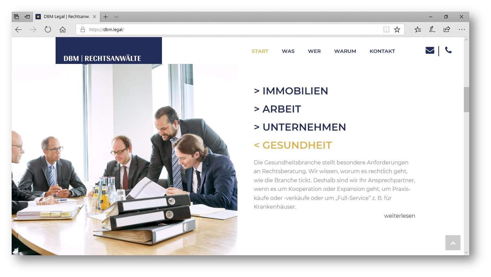 Besprechungssituation einer Kanzlei für Wirtschaftsrecht Berlin
