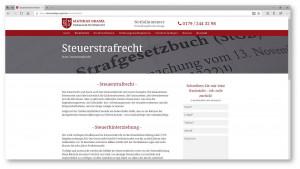 Strafrecht Website Kanzleiwebsite, hier Steuerstrafrecht