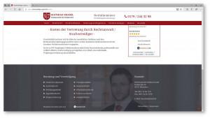 Kanzleiwebsite Strafverteidiger in München
