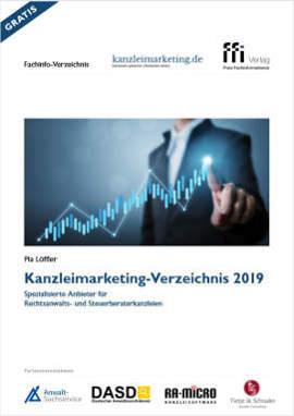 Coverbild der e-Broschüre Kanzelimarketing-Verzeichnis 2019