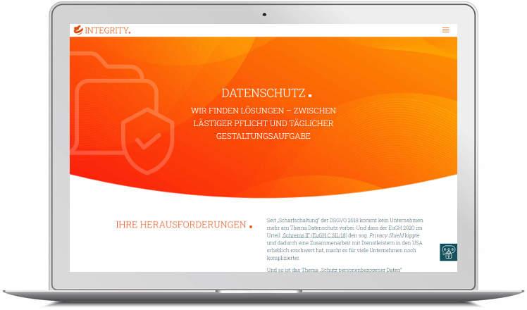 Screenshot Website DGC Integrity - Laptop