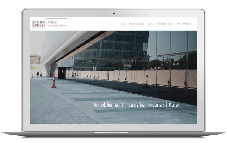 Screenshot Landing Page - Laptop - immobilienrecht-italien.com